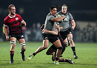 Anton Lienert-Brown in action during the Game of Three Halves between the NZ All Blacks and Canterbury at AMI Stadium in Christchurch, New Zealand on Friday, 10 August 2018. Photo: Martin Hunter / lintottphoto.co.nzz