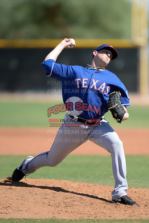 Texas Rangers pitcher David Gates (88) during an Instructional League game against the Cleveland Indians on October 4, 2013 at Surprise Stadium Training Complex in Surprise, Arizona.  (Mike Janes/Four Seam Images)