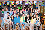 21ST BIRTHDAY: Sean O'Connor, Knockeen, Castleisland (seated centre) enjoying a great time with large group of family and friends celebrating his 21st birthday at O'Riada's bar and restaurant, Ballymacelligott on Friday.