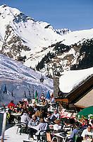 """Europe/France/Rhône-Alpes/74/Haute-Savoie/Chatel: Terrasse du chalet d'altitude """"Chez Constant ou la ferme des pistes"""""""