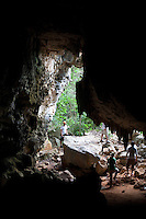 April 8th, 2011_PORT-A-PIMENT, HAITI_ People view a vast cave complex in area called Port-A-Piment, which is south west of the Haitian capital Port au Prince. Port-A-Piment is home to the largest cave complex in the Caribian. Photographer: Daniel J. Groshong/The Hummingfish Foundation