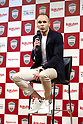 May 24, 2018, Tokyo, Japan - Spanish midfielder Andres Iniesta of former FC Barcelona speaks before press as he joins Vissel Kobe of Japan's professional football league J-League in Tokyo on Thursday, May 24, 2018. Vissel Kobe is owned by Japanese online commerce giant Rakuten and Rakuten is now uniform sponsor of FC Barcelona.   (Photo by Yoshio Tsunoda/AFLO) LWX -ytd-