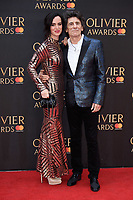 Ronnie Wood &amp; wife, Sally arriving for the Olivier Awards 2018 at the Royal Albert Hall, London, UK. <br /> 08 April  2018<br /> Picture: Steve Vas/Featureflash/SilverHub 0208 004 5359 sales@silverhubmedia.com