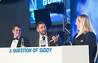 Picture by Allan McKenzie/SWpix.com - 05/10/17 - Cricket - Yorkshire County Cricket Club Gala Dinner 2017 - Elland Road, Leeds, England - A Question of Siddy, Jonathan Brownlee, Tim Bresnan & Eorl Crabtree.