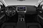 Stock photo of straight dashboard view of 2017 Chevrolet Colorado ZR2 Crew 4 Door Pick Up