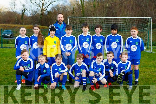 The Ballyhar Dynamos team that played Killarney Athletic in the u11 league in Killarney on Saturday
