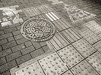 Sidewalk Patterns in Ota, Japan 2014.