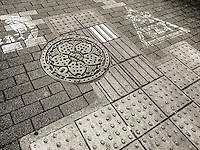 Sidewalk Patterns in Ota, Japan 2014.
