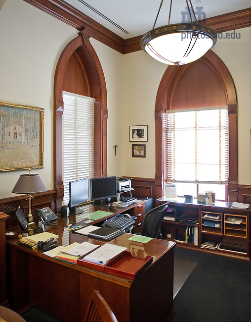 Jan. 19, 2012; Fr. Jenkins' desk..Photo by Matt Cashore/University of Notre Dame