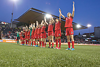 Portland, OR - Saturday May 27, 2017: Thorns wave to supporters during a regular season National Women's Soccer League (NWSL) match between the Portland Thorns FC and the Boston Breakers at Providence Park.