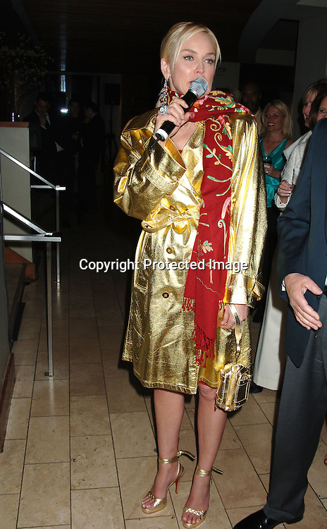 """Sharon Stone ..at the Afterparty for the Premiere of """"Basic Instinct 2"""" at Fred's at Barney's on March 27, 2006. The party was benefitting Concerned Parents For Aids Research. Sharon Stoned wowed them auctioning off items that raised       $68, 000...Robin Platzer, Twin Images"""