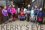 Wedding bells at the Tralee Equestrian Centre on Tuesday as Pongo and Perdy got married.<br /> L-r, Lily O'Sullivan, Ruby Mullins, Sheola McElligott, Pongo, Rachel Daly, Perdy, Olivia Starrett, Eoin and Aoibhín Commane, Daisy O'Sullivan.