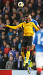12.12.2019 Rangers v Young Boys Bern: Nikola Katic collides with Jean Pierre Nsame