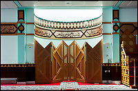 BNPS.co.uk (01202 558833)<br /> Pic: HistoricEngland/BNPS<br /> <br /> Interior of the Shah Jalaan Mosque in Manchester.<br /> <br /> A new book from Historic England reveals the spread of Mosque building across Britain.<br /> <br /> The book provide a fascinating insight into the diversity of Britain's 1,500 mosques.<br /> <br /> They range from humble house conversions where small groups gather to magnificent purpose-built complexes which can accommodate thousands of worshippers.<br /> <br /> Architect Shahed Saleem, who has designed a mosque in Hackney, east London, has produced the first comprehensive overview of Islamic architecture on these shores in his new book, The British Mosque.
