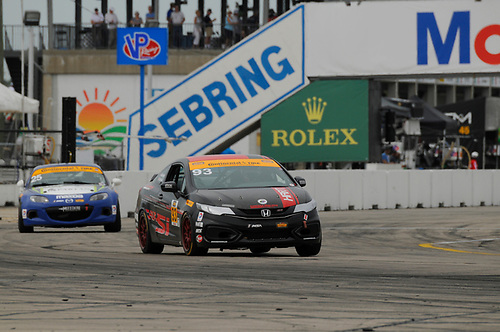 16-18 March, 2016, Sebring, Florida, USA<br /> #93 Chad Gilsinger, Michael Valiante, Honda Civic Si<br /> © 2016, Jay Bonvouloir, ESCP