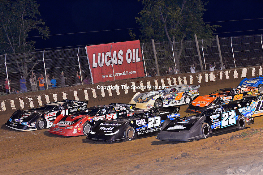 """Aug 11, 2013; 12:13:56 AM; Union, KY., USA; The 31st Annual """"Sunoco Race Fuels North/South 100"""" running a 50,000-to-win event presented by Lucas Oil at Florence Speedway in Union, KY. Mandatory Credit: (thesportswire.net)"""