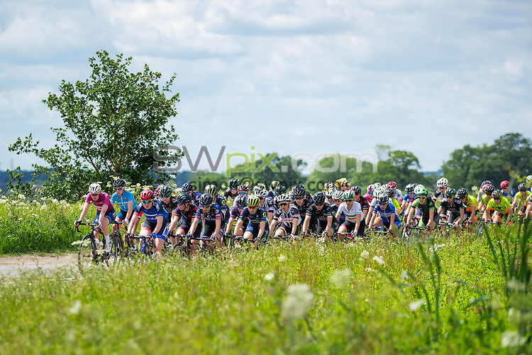 Picture by Alex Whitehead/SWpix.com - 07/06/2017 - Cycling - OVO Energy Women's Tour - Stage 1: Daventry to Kettering - The peloton in action.