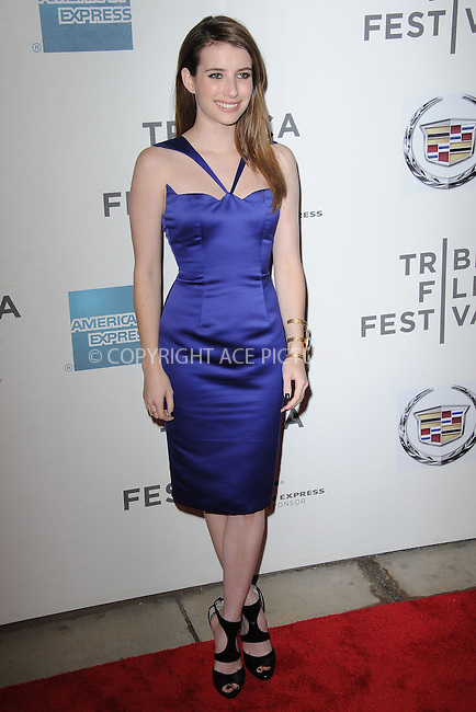 WWW.ACEPIXS.COM . . . . . .April 18, 2013...New York City....Emma Roberts attends the screening of 'Adult World' during the 2013 Tribeca Film Festival at BMCC Tribeca PAC on April 18, 2013 in New York City ....Please byline: KRISTIN CALLAHAN - ACEPIXS.COM.. . . . . . ..Ace Pictures, Inc: ..tel: (212) 243 8787 or (646) 769 0430..e-mail: info@acepixs.com..web: http://www.acepixs.com .