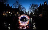 Nederland  Amsterdam 2016. Bridge of the Rainbow. Foto Berlinda van Dam / Hollandse Hoogte