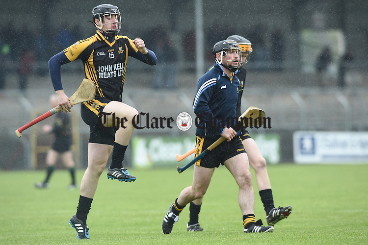 Eoin Donnellan of Ballyea warms up before their match in Ennis. Photograph by John Kelly.