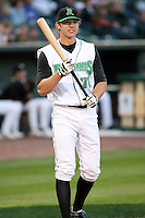 June 16th 2008:  Brandon Waring of the Dayton Dragons, Class-A affiliate of the Cincinnati Reds, during the Midwest League All-Star Home Run Derby at Dow Diamond in Midland, MI.  Photo by:  Mike Janes/Four Seam Images