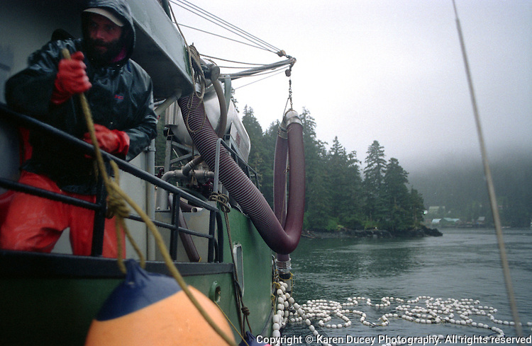 The F/V Miss Corrine outside the Kitoi Bay salmon Hatchery in Prince William Sound, Alaska