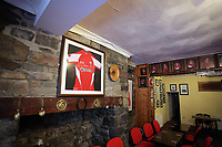 FAO STEWART HUNTER, DAILY MAIL SPORTS PICTURE DESK<br />Pictured: Shane Williams memorabilia in the Amman United RFC clubhouse in Cwmamman, Wales, UK. Thursday 13 April 2017<br />Re: Former Wales international rugby player Shane Williams is to make another comeback as part of the Amman United team that contests a final at the Principality Stadium in Cardiff on Saturday.<br />40 year old Williams, Wales' record try scorer has been named in his local village side that will take on Caerphilly in the National Bowl final, having recovered from a fractured jaw in the semi-final win against Cardigan after almost five years since Williams last played for the Barbarians against Wales.<br />He retired from the Test scene after a defeat to Australia in 2011, immediately after Wales had reached the semi-final of the World Cup of that year.
