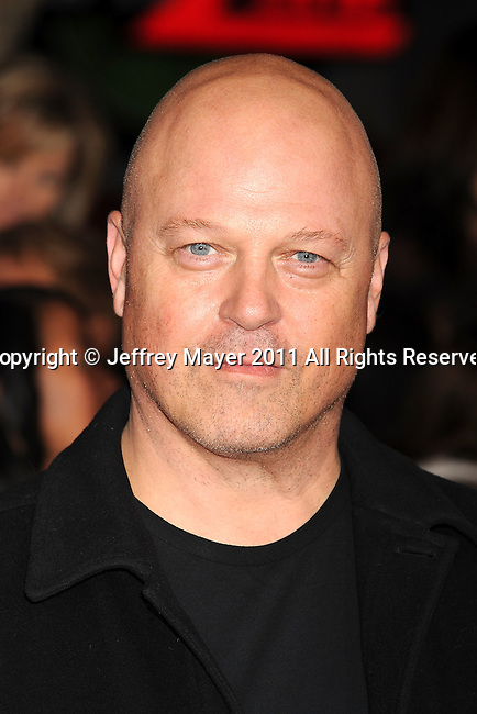 """LOS ANGELES, CA - NOVEMBER 14: Michael Chiklis arrives at the Los Angeles premiere of """"The Twilight Saga: Breaking Dawn Part 1"""" held at Nokia Theatre L.A. Live on November 14, 2011 in Los Angeles, California."""