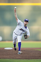Winston-Salem Dash starting pitcher Matt Cooper (19) in action against the Myrtle Beach Pelicans at BB&T Ballpark on April 18, 2016 in Winston-Salem, North Carolina.  The Pelicans defeated the Dash 6-4.  (Brian Westerholt/Four Seam Images)