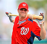 3 March 2011: Washington Nationals' outfielder Bryce Harper warms up prior to a Spring Training game against the St. Louis Cardinals at Roger Dean Stadium in Jupiter, Florida. The Cardinals defeated the Nationals 7-5 in Grapefruit League action. Mandatory Credit: Ed Wolfstein Photo