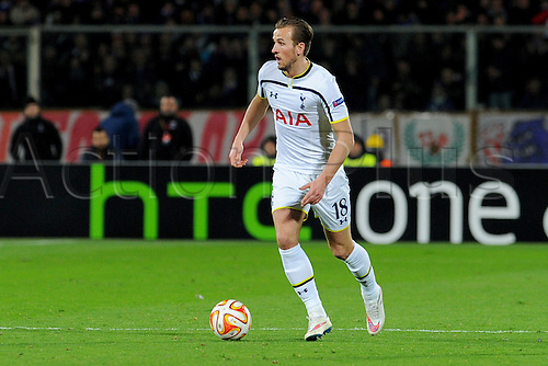 26.02.2015.  Florence, Italy. Europa League Football. Fiorentina versus Tottenham Hotspur. Harry Kane in action as a late substitute