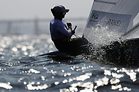 RIO DE JANEIRO, BRAZIL - AUGUST 08:  Paige Railey of the United States competes during the Women's Laser Radial races on Day 3 of the Rio 2016 Olympic Games at Marina da Gloria on August 9, 2016 in Rio de Janeiro, Brazil.  (Photo by Clive Mason/Getty Images)