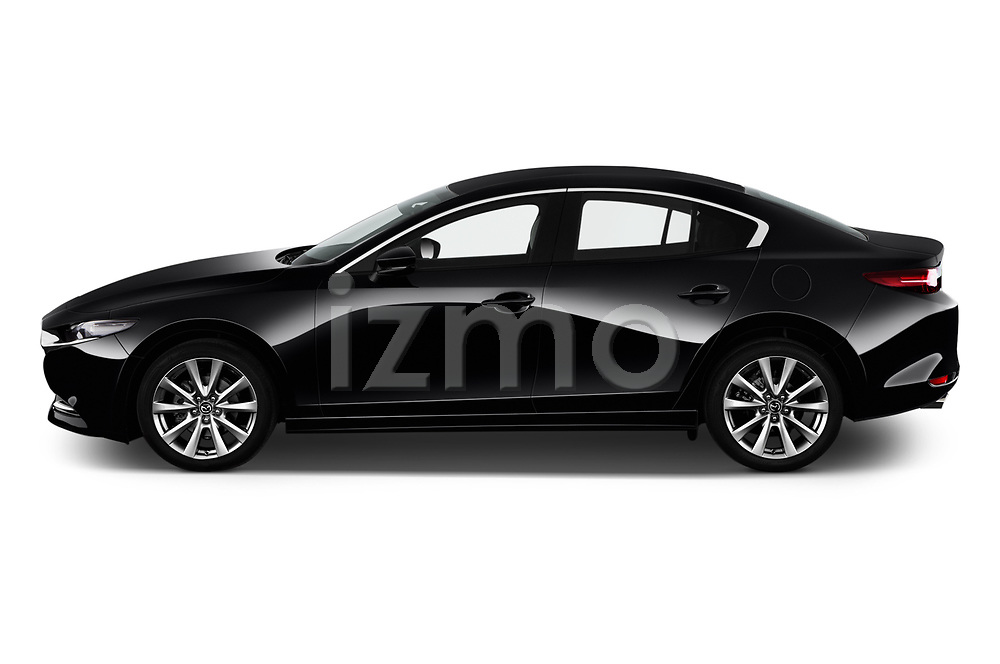 Car Driver side profile view of a 2020 Mazda Mazda3 Skycruise 4 Door Sedan Side View