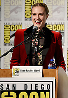 FX FEARLESS FORUM AT SAN DIEGO COMIC-CON© 2019: Moderator/Cast Member Evan Rachel Wood during the WHAT WE DO IN THE SHADOWS panel on Saturday, July 20 at SAN DIEGO COMIC-CON© 2019. CR: Frank Micelotta/FX/PictureGroup © 2019 FX Networks