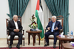Palestinian President Mahmoud Abbas meets with Sakhnin Mayor Mazen Ghanayem in the West Bank city of Ramallah, on December 12, 2018. Photo by Thaer Ganaim