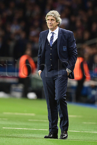 06.04.2016. Paris, France. UEFA CHampions League, quarter-final. Paris St Germain versus Manchester City.  Manuel Pellegrini - trainer (Manchester City)