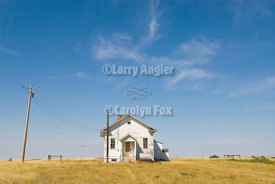 Sunnyside School (1923-1966) one room school house on the Great Plains in rural eastern Montana