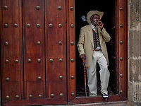 HAVANA, CUBA - JUNE 15: Rafael Semanal, a Cuban  street performer, poses for a portrait in Old Havana, Habana Vieja on June 15, 2015 in Havana, Cuba. <br /> Daniel Berehulak for Panasonic/Lumix