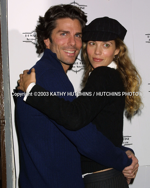 ©2003 KATHY HUTCHINS / HUTCHINS PHOTO.HOWARD FINE ACTING STUDIO CHRISTMAS PARTY.WITH DONATIONS ACCEPTED FOR TOYS FOR TOTS.LOS ANGELES, CA.DECEMBER 14, 2003.GREG LAUREN AND ELIZABETH BERKLEY