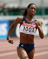 DeeDee Trotter ran 51.27sec. in the 1st. round of the 400m on Sunday, August 26, 2007. Photo by Errol Anderson,The Sporting Image.