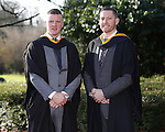REPRO FREE<br /> 21/01/2015<br /> Sean Flannery, Rathcormack, Co. Sligo and Kieran O'Neill, Letterkenny, Co. Donegal who graduated with Bsc in Exercise and Health Fitness as the University of Limerick continues three days of Winter conferring ceremonies which will see 1831 students conferring, including 74 PhDs. <br /> UL President, Professor Don Barry highlighted the increasing growth in demand for UL graduates by employers and the institution&rsquo;s position as Sunday Times University of the Year. <br /> Picture: Don Moloney / Press 22