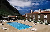 Spanien, Kanarische Inseln, El Hierro, Pozo de la Salud. Hotel und Heilbad