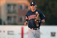 06 June 2010: Second base Luc Piquet of Rouen runs back to the dugout during the 2010 Baseball European Cup match won 10-8 by the Rouen Huskies over AVG Draci Brno, at the AVG Arena, in Brno, Czech Republic.