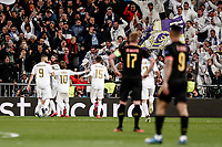 26th February 2020; Estadio Santiago Bernabeu, Madrid, Spain; UEFA Champions League Football, Real Madrid versus Manchester City; Francisco Alarcon, ISCO (Real Madrid)  celebrates his goal which made it 1-0 in the 60th minute