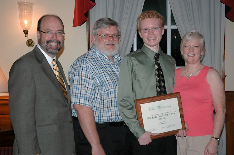 17705Student Leadership Recognition awards Ceremony at Baker Center: Photos Rebecca Grosenbaugh.Rudy Leadership AwardPatrick Heery and family