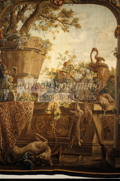 """Europe/France/Limousin/23/Creuse/Aubusson: Musée de la Tapisserie - """"Automne"""" tissé à Dresde atelier Pierre Mercier - Aubusson est la capitale mondiale de la tapisserie"""