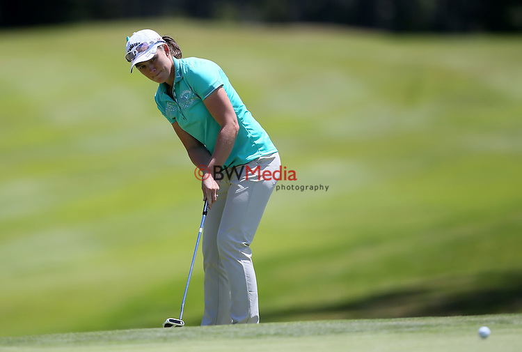 Stacey Keating of Australia during the Anita Boon Pro-am, North Shore Golf Club, Auckland, New Zealand. Friday 13 November 2015. Photo: Simon Watts/www.bwmedia.co.nz <br /> All images &copy; BWMedia.co.nz