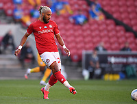 22nd July 2020; Ashton Gate Stadium, Bristol, England; English Football League Championship Football, Bristol City versus Preston North End; Ashley Williams of Bristol City plays the ball forward