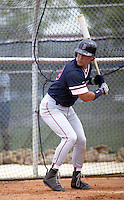 Boston Red Sox Phil Plantier (29) during spring training circa 1992 at Chain of Lakes Park in Winter Haven, Florida.  (MJA/Four Seam Images)