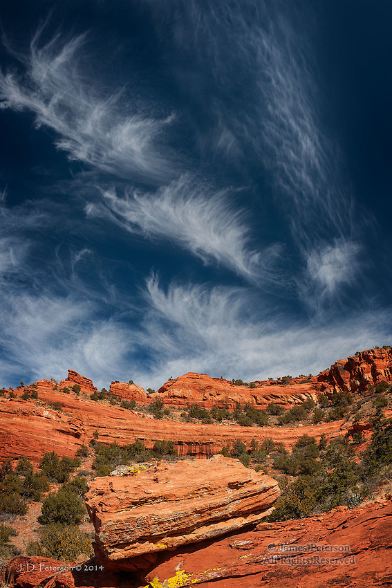 Cirrus Clouds over Mescal Mountain, Arizona
